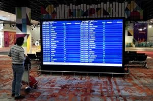 Departures Board at KLIA2