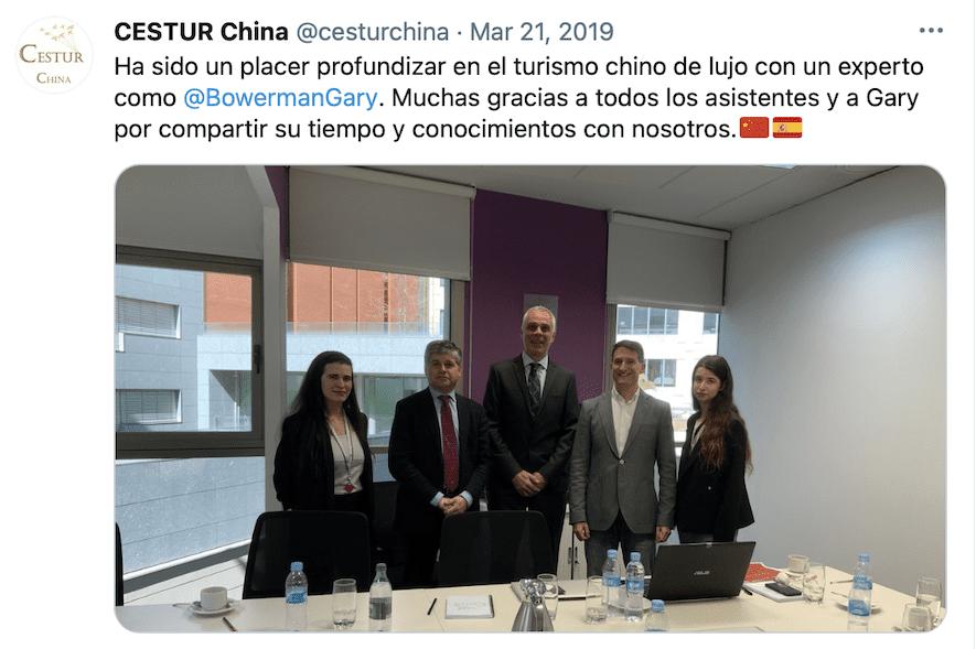Gary Bowerman at CESTUR China Madrid